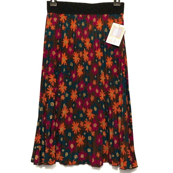 LuLaRoe Colorful Floral Midi Jill Skirt